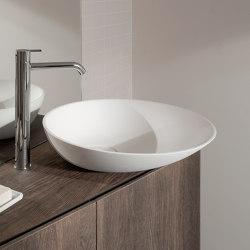 Forma Waschbecken auf Arbeitsplatte, aus Topsolid Ø45 | Wash basins | Inbani