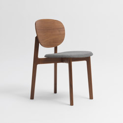 Zenso Fully upholstered seat and wooden back | Sedie | Zeitraum