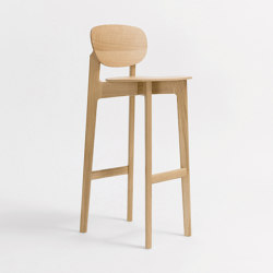 Zenso Bar Wooden seat and wooden back | Taburetes de bar | Zeitraum