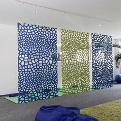 recycled greenPET | designed acoustic divider air voronoi | Sound absorbing room divider | SPÄH designed acoustic