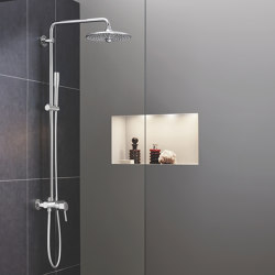 Euphoria SmartControl System 310 Cube Duo with thermostat for wall mounting | Shower controls | GROHE