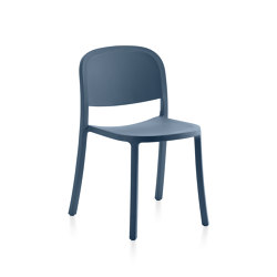 1 Inch Reclaimed Stacking Chair Blue | Chairs | emeco