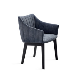 Rubie | Chair with wooden support frame | Chairs | FREIFRAU MANUFAKTUR
