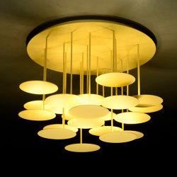 millelumen circles ceiling goldglimmer | Lampade plafoniere | Millelumen