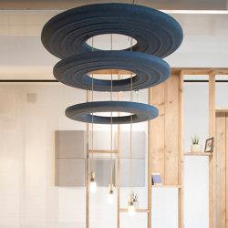 BuzziDonut | Paneles de techo fonoabsorbentes | BuzziSpace