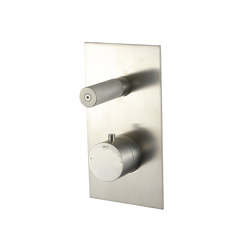 Sense 22 mm shower flush-mounted with thermostat and 2-way diverter, angular | Shower controls | CONTI+