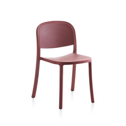 1 Inch Reclaimed Stacking Chair Bordeaux | Sillas | emeco