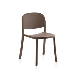 1 Inch Reclaimed Stacking Chair Brown | Sillas | emeco