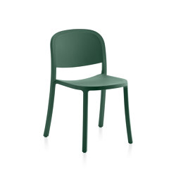 1 Inch Reclaimed Stacking Chair Green | Sillas | emeco