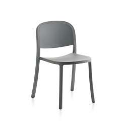 1 Inch Reclaimed Stacking Chair Light Grey | Sillas | emeco