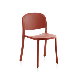 1 Inch Reclaimed Stacking Chair Orange | Sillas | emeco