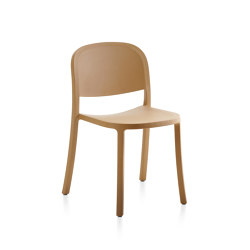 1 Inch Reclaimed Stacking Chair Sand | Sillas | emeco