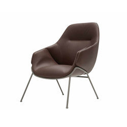 Anita Armchair High Back, Rod Base, Two Colours | Chairs | SP01