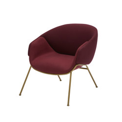 Anita Armchair Low Back, Rod Base, One Colour | Chairs | SP01