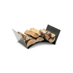 Wood Bridge Log Holder | Fireplace accessories | conmoto