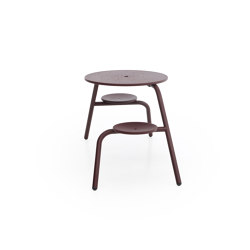 Virus 2-seater with standard tabletop (with drainage holes & parasol hole)   Table-seat combinations   extremis