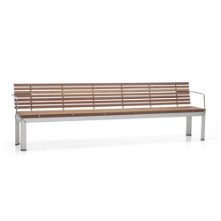 Extempore bench with back | Benches | extremis