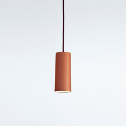 Rigatoni Terracotta (medium) | Suspended lights | Hand & Eye Studio