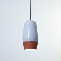 Terracotta Small (Top Glazed) | Lampade sospensione | Hand & Eye Studio