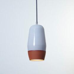 Terracotta Small (Top Glazed) | Suspended lights | Hand & Eye Studio