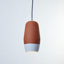 Terracotta Small (Bottom Glazed) | Suspended lights | Hand & Eye Studio