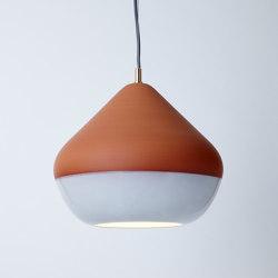 Terracotta Large (Bottom Glazed) | Suspended lights | Hand & Eye Studio