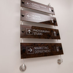 Rod Hanging Signs | Sign holders | Gyford StandOff Systems®