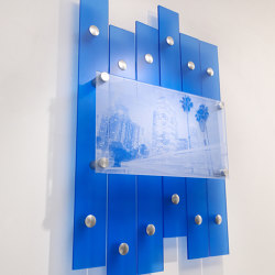 Layered Wall Display | Glass holders | Gyford StandOff Systems®