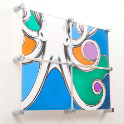 Hanging Hardware for Multi-Panel Artwork | Glass holders | Gyford StandOff Systems®