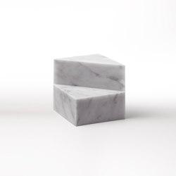 Kilos bookends - Cube - Bianco Carrara |  | Salvatori