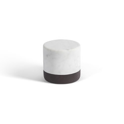 Lui&Lei paperweight - Ø10 x h10 cm - Bianco Carrara | Paper weights | Salvatori