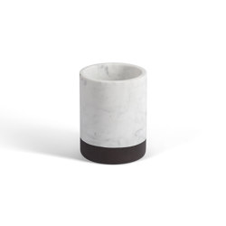 Lui&Lei candle holder - Ø10 x h13 cm - Bianco Carrara | Kerzenständer / Kerzenhalter | Salvatori