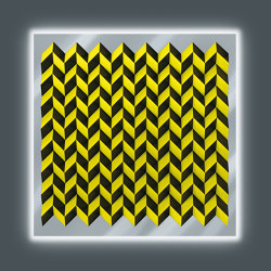 Foldart Light Paperfold - black yellow Light - Acryl transparent | Wall art / Murals | Foldart