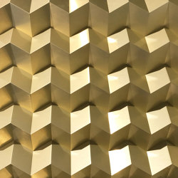 Foldwall 100 - brush-finished gold-coloured | Wall panels | Foldart