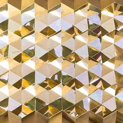 Foldwall 100 - mirror - gold-coloured   Wall panels   Foldart