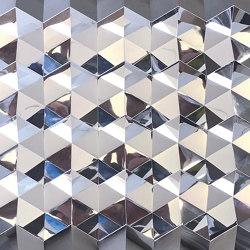 Foldwall 100 - mirror - silver-coloured   Wall panels   Foldart