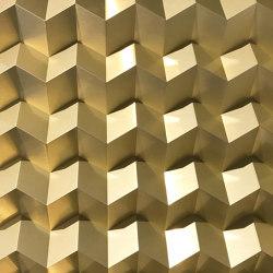 Foldwall 75 - brush-finished gold colored | Wall panels | Foldart