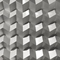 Foldwall 75 - brush-finished silver colored   Wall panels   Foldart