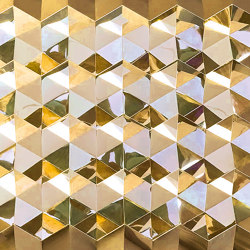 Foldwall 75 - mirror - gold-colored | Wall panels | Foldart