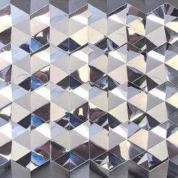 Foldwall 75 - mirror - silver colored | Wall panels | Foldart