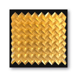 Waterfold - gold shine - Acryl black | Peintures murales / art | Foldart