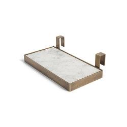 TABL-EAU Tray - Bianco Carrara | Bath shelving | Salvatori
