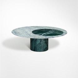 Proiezioni Coffee Table Verde Alpi / Cipollino Ø90 h35 without inlay | Couchtische | Salvatori