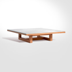 Span - Tavolo Coffee 113 x 113 x h26 cm Bianco Carrara | Coffee tables | Salvatori