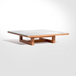 Span - Coffee table 113 x 113 x h26 cm Bianco Carrara | Tables basses | Salvatori