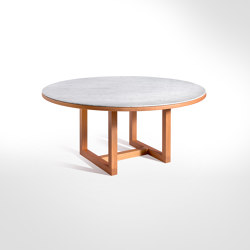 Span - Dining table Ø 160 x h70 cm Bianco Carrara | Dining tables | Salvatori
