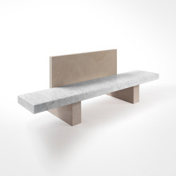 Span Outdoor Bench with Back Support 240 x 72.5 x h 80 cm | Benches | Salvatori