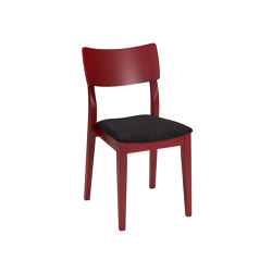 Piccolo chair dark red, assembled | Chairs | Hans K