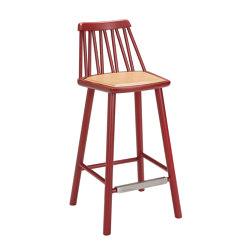 ZigZag barchair 63cm ash dark red | Bar stools | Hans K