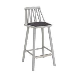 ZigZag barchair 63cm grey | Taburetes de bar | Hans K